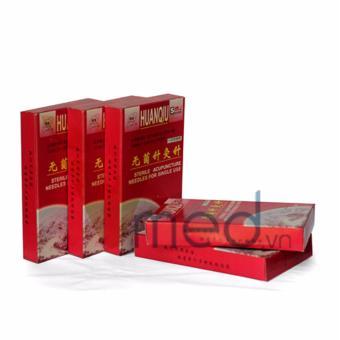 Combo Kim châm cứu Hoàn Cầu (HuanQiu) 0.35mm x 75mm x 100 kim ( MUA 10 TẶNG 1 )