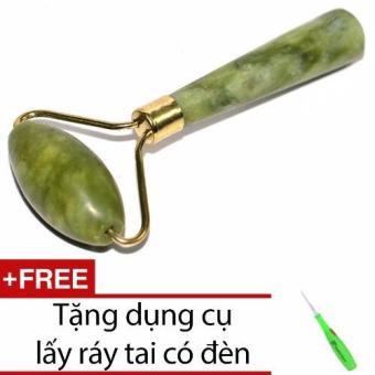 Mua Cây lăn mặt đá cẩm thạch + Tặng dụng cụ lấy ráy tai có đèn giá tốt nhất