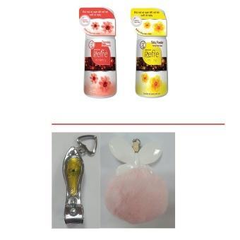 Bộ 1 lăn khử mùi Refre hương Phấn thơm Baby Powder 40ml + 1 lăn khử mùi Refre hương Charming 40ml (Tặng 1 móc khóa thời trang và 1 bấm móng tay màu ngẫu nhiên)