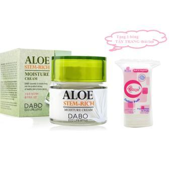 Kem Dưỡng Ẩm Trắng Da Mặt Aloe Dabo Cream ( Ban Đêm) + Tặng 1 Bông Tẩy Trang