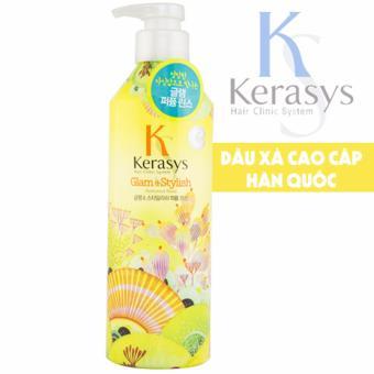 Dầu xả nước hoa giúp tóc luôn mềm mượt óng ả KeraSys Glam & Stylish Cao cấp Hàn Quốc 600ml - Hàng Chính Hãng