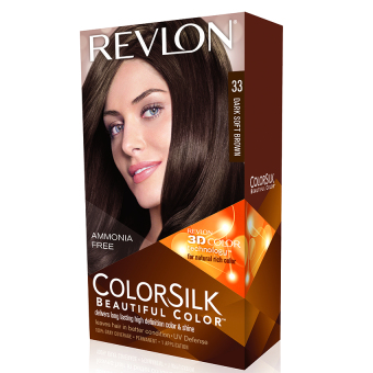 Thuốc nhuộm tóc REVLON COLORSILK - 33 DARK SOFT BROWN