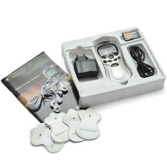 Máy massage trị liệu xung điện với 4 miếng dán (Bạc)