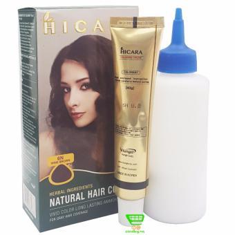 Thuốc nhuộm tóc phủ bạc dạng kem HICARA 6N 40g (Nâu Đỏ)