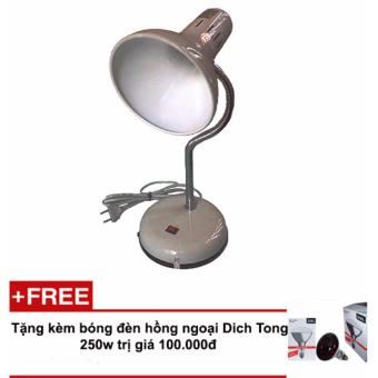 Chân đèn hồng ngoại TNE (trắng) + Tặng bóng đèn hồng ngoại Dich Tong 250w
