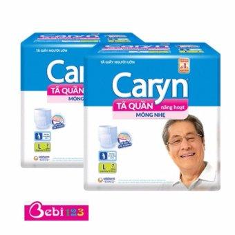 Bộ 2 Gói Tã Quần Người Lớn Loại Mỏng Nhẹ Caryn L7