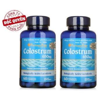 Bộ 2 Thực phẩm chức năng tinh chất sữa non tăng cường sức đề kháng Puritan's Pride Colostrum 60 viên
