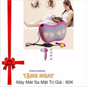 Gối mát-xa Massage Magic 6 bi hồng ngoại PL818 (Tím) tặng máy mát xa mặt