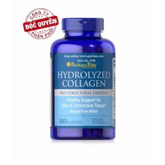 Viên uống đẹp da, ngừa nám Collagen thủy phân Puritan's Pride Hydrolyzed Collagen 1000mg 180 viên