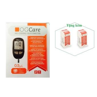 Máy đo đường huyết OGCare. + Tặng 2 hộp que thử 25 test