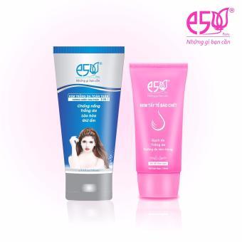 Kem Trắng Da Toàn Thân 3in1 E5 150g và Kem Tẩy Tế bào Chết E5