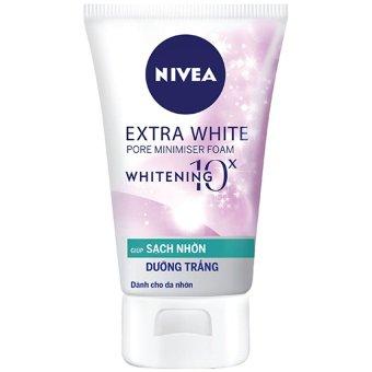 Sữa rửa mặt giúp dưỡng trắng và làm sạch nhờn NIVEA Extra White Pore Minimiser 100g