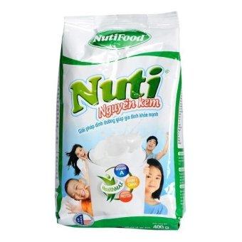 Sữa bột nguyên kem Nutifood Nuti Nguyên 400g (Dạng gói)