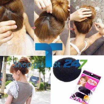 Bộ dụng cụ 02 làm phồng tóc dạng bấm + 01 dụng cụ búi tròn Hàn quốc