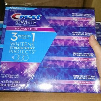 Bộ 2 tupe kem đánh răng trắng răng CREST 3D White Radiant Mint 181gr*2 Mỹ