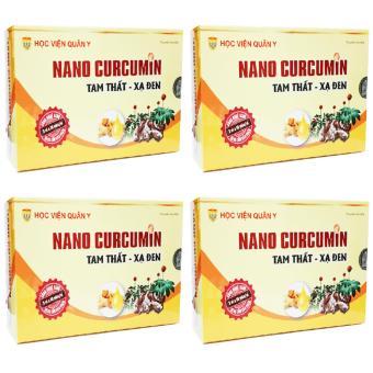 Liệu Trình 4 hộp Nano Curcumin Tam Thất Xạ Đen Học Viện Quân Y
