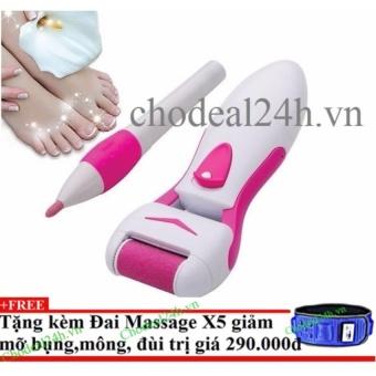 Máy tẩy tế bào gót chân và tỉa móng chân Kemei+Tặng đai massage x5 giảm mỡ