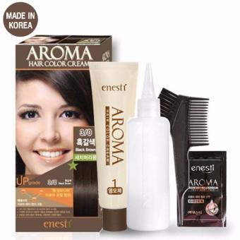 Thuốc Nhuộm Tóc Enesti Aroma Hair Color Cream Đen Tự Nhiên (3/0) Cao Cấp Hàn Quốc - Hàng Chính Hãng