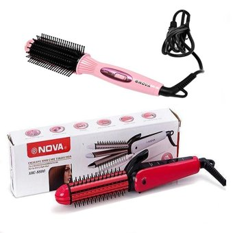Bộ lược điện và máy dập xù ép tóc Nova