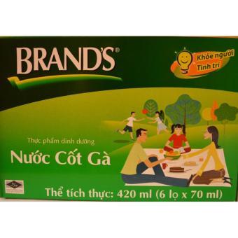 Nước Cốt Gà Brand's 70ml xuất xứ Thái Lan bộ 6 hũ
