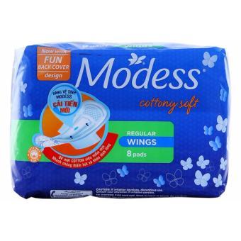 Băng vệ sinh chu kỳ siêu mềm mịn Modess Regular cánh 8 miếng (Thái Lan)