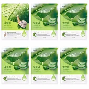 Bộ 6 gói Mặt nạ dưỡng da chiết xuất dịch ốc sên Esfolio 23ml
