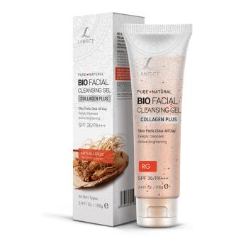 Gel Rửa Mặt Sinh Học Collagen+ Chống Nắng Đẹp Da Hồng Sâm 100g LANGCE