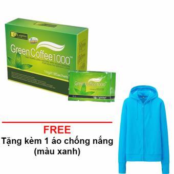 Trà Giảm Cân, Trà Giảm Béo, Trà Tan Mỡ Green Coffee 1000 + Tặng 1 Áo Chống Nắng