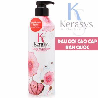 Dầu gội nước hoa cho mái tóc óng mượt chắc khỏe KeraSys lovely & Romantic tinh chất hoa nhài và hoa cúc Hàn Quốc 600ml - Hàng Chính Hãng