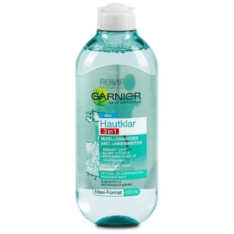Nước tẩy trang Garnier Mizellen-Reinigungswasser Hautklar 3in1 (400ml) default title