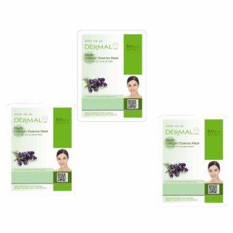 Bộ 3 x Mặt nạ dưỡng da tinh chất thảo mộc Dermal Herb Collagen Essence Mask 23g