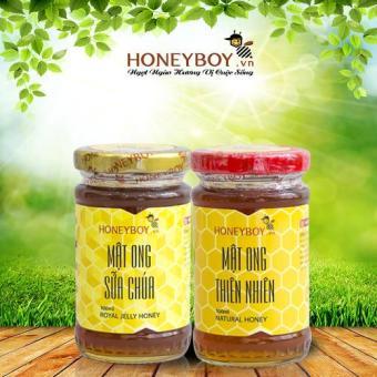 Bộ Mật ong thiên nhiên Honeyboy 100ml và Mật ong sữa chúa 100ml