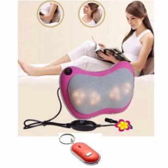 Bộ Gối mát-xa Massage Magic 6 bi hồng ngoại PL818 (Tím) + Móc khoá thông minh