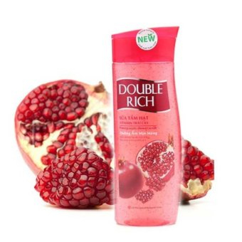 Double Rich Sữa tắm hạt Vitamin Trái cây Pomegranate ( Lựu )420g – dưỡng ẩm mịn màng