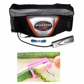 Đai massage nóng và rung Vibro Shape (Đen) + Dụng cụ thái dưa đắp mặt