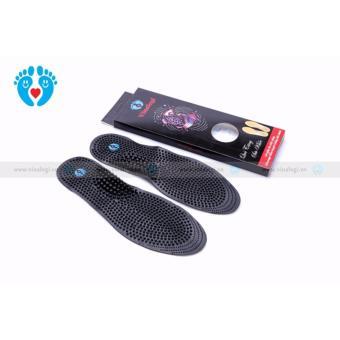Combo 2 đôi miếng Lót Giày Massage Nam và Nữ, Bấm Huyệt Khử Mùi Hôi Chân (Đen)