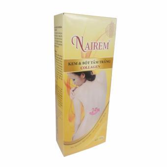 Kem và bột tắm trắng toàn thân dưỡng chất Collagen Nairem (2 gói)