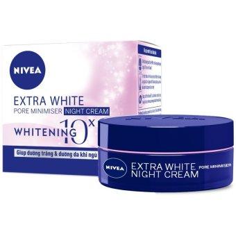 Kem dưỡng da trắng da và thu nhỏ lỗ chân lông ban đêm NIVEA Extra White Pore Minimiser Night Cream SPF30 50ml
