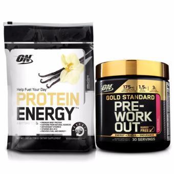 Bộ 2 sản phẩm ON-Protein Energy 1.6 lb Vanilla Latte + Gold Standard Preworkout 300gr Watermelon