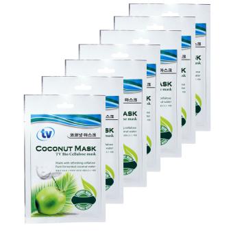 Bộ 7 Mặt Nạ Dừa Sinh Hoc dưỡng trắng da chuyên sâu TV Bio Cellulose 7 gói x 35g