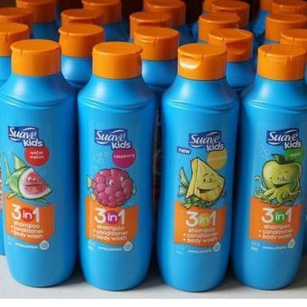 Dầu gội tắm xả 3 trong 1 SUAVE KIDS hương trái cây- 665ml