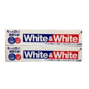 Bộ 2 hộp Kem Đánh Răng làm trắng White And White Lion Nhật 150g