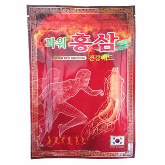 Túi 20 miếng Cao Dán Chiết Xuất Hồng Sâm giảm Đau Nhức