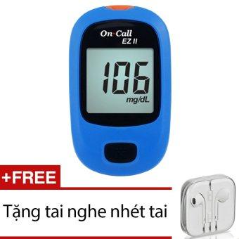 Máy đo đường huyết Acon On call EZ II (Xanh) + Tặng 1 tai nghe nhét tai