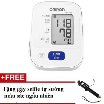 Máy đo huyết áp bắp tay Omron HEM-7121 (Trắng) + Tặng gậy tự sướng selfie màu sắc ngẫu nhiên