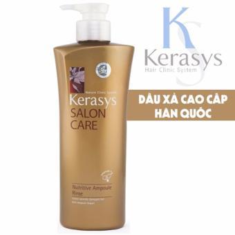 Dầu xả dành cho tóc hư tổn nặng Kerasys Salon care Nutritive cao cấp Hàn Quốc 600 ml