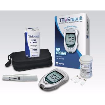 Máy thử đường huyết của Mỹ True Result (tặng 1 hộp que+1 hộp kim)