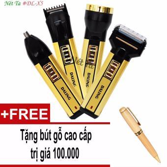 Tông đơ cắt tóc đa năng 4in1 kiêm cạo râu, tỉa lông mũi, đèn pin Nét Ta DL-X5 tặng kèm bút gỗ cao cấp trị giá 100.000