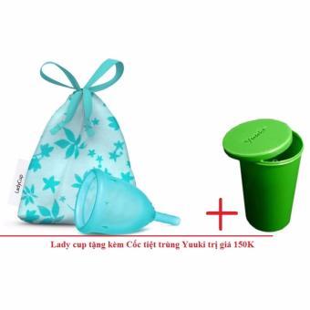 Cốc nguyệt san Lady cup (Xanh) + Tặng cốc tiệt trùng Yuuki