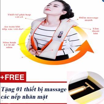 Máy mát-xa vai cổ lưng đa năng loại cao cấp + Tặng 01 massage mặt